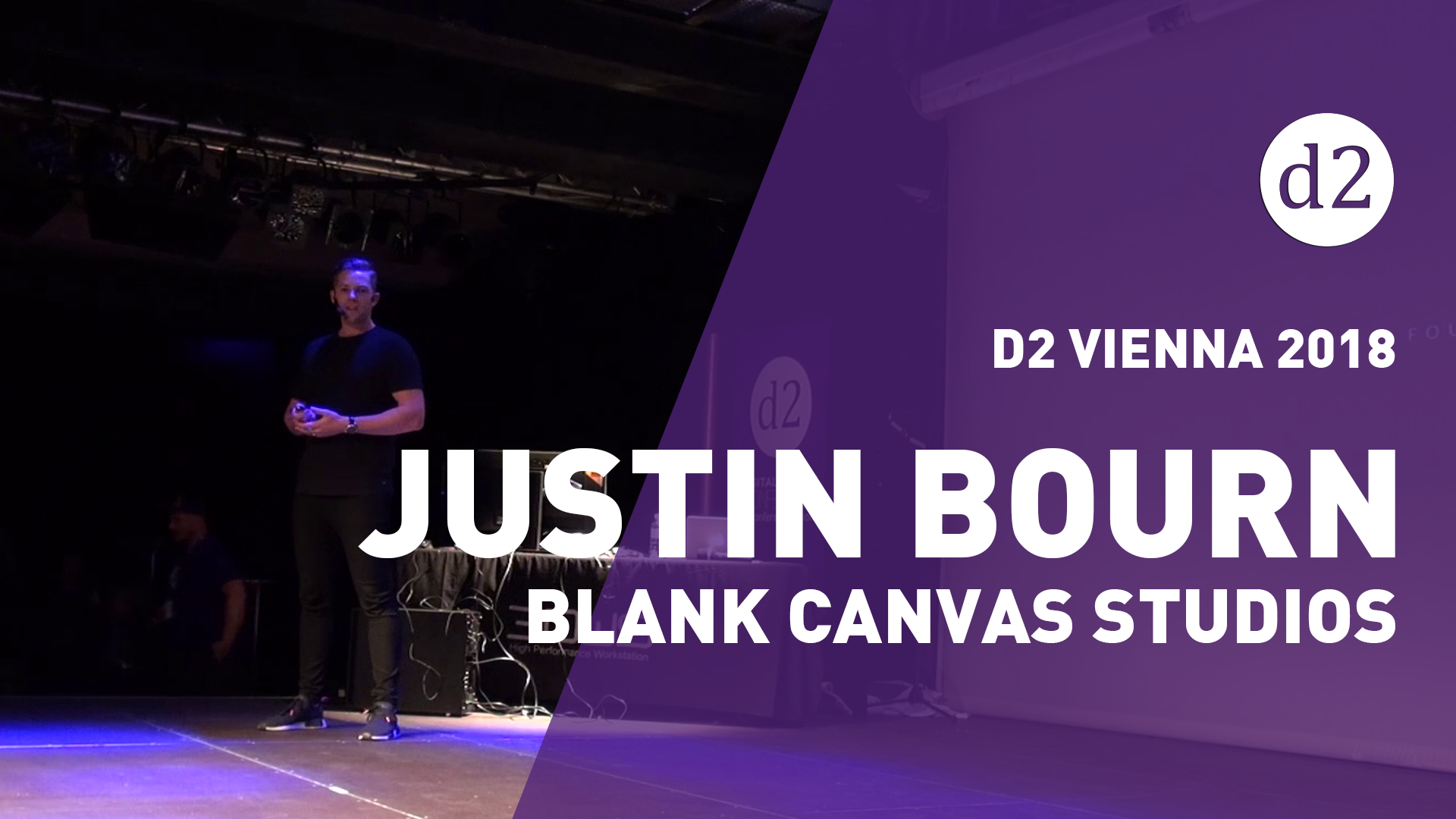 D2 Vienna 2018: Justin Bourn from Blank Canvas Studios