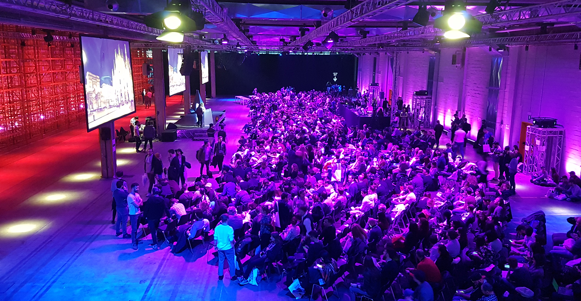 The main stage area at the DDD Milan.